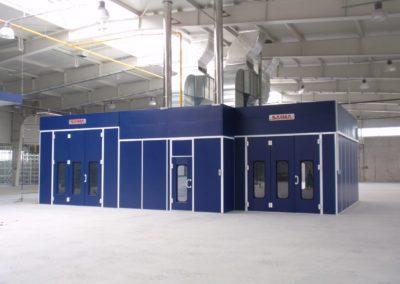 Kabiny lakiernicze SAIMA małogabarytowa i wielkogabarytowa dla motoryzacji