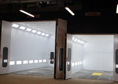 Kabiny lakiernicze Saima Meccanica dla samochodów osobowych i dostawczych