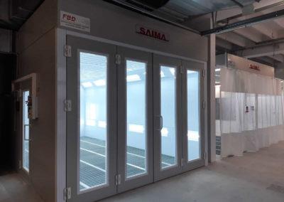 Drzwi Krystal w kabinie lakierniczej SAIMA
