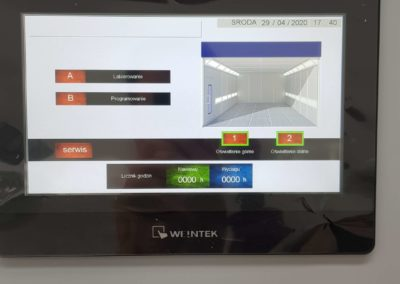 Panel sterowania w kabinie lakierniczej SAIMA LCD