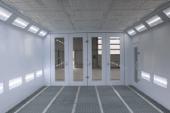 Oświetlenie LED w kabinie lakierniczej