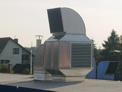 Rekuperator ciepła w kabinie lakierniczej