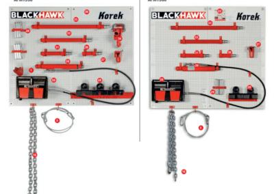 Tablica z akcesoriami do ramy blacharskiej KOREK Blackhawk cd 2