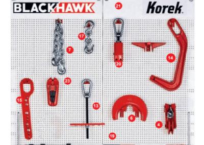 Tablica z akcesoriami do ramy blacharskiej KOREK Blackhawk cd 3