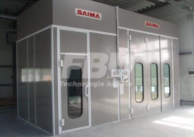 Boks lakierniczy i kabina lakiernicza SAIMA