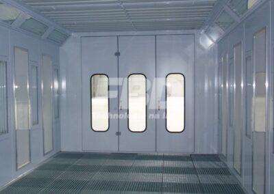 Elektryczna kabina lakiernicza, panele endotermiczne