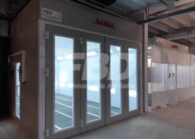 Kabina lakiernicza SAIMA dla Opel drzwi krystal