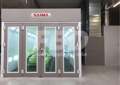 Kabina lakiernicza SAIMA, drzwi Krystal czteroskrzydłowe