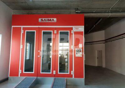 Kabina lakiernicza SAIMA na posadzce, drzwi Krystal