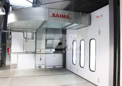 Kabina lakiernicza SAIMA nietypowa instalacja w lakierni