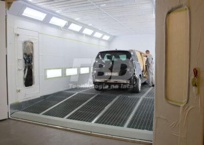 Kabina lakiernicza SAIMA z podjazdem
