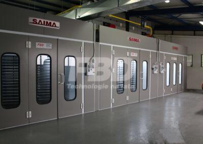 Kabiny lakiernicze SAIMA i suszarnia przemysłowa