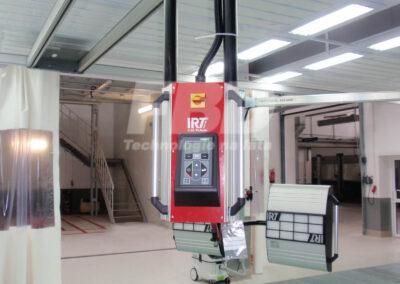 Panel obsługi systemu szynowego z promiennikami lakierniczymi
