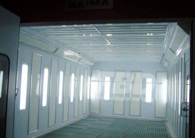 Panele endotermiczne SAIMA do kabiny lakierniczej