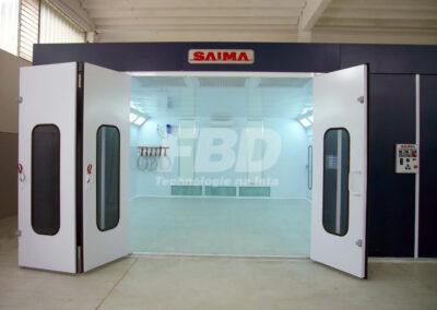 Panele endotermiczne SAIMA do kabiny lakierniczej z zewnątrz