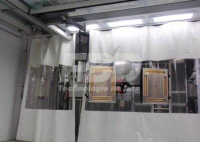 Promiennik lakierniczy w systemie szynowym IRT w strefie przygotowawczej