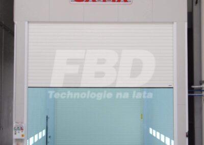 Przemysłowa kabina lakiernicza SAIMA, brama rolowana