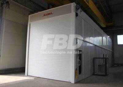 Przemysłowa kabina lakiernicza SAIMA brama rolowana