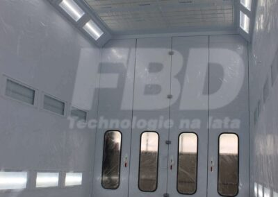 Przemysłowa kabina lakiernicza SAIMA oświetlenie LED