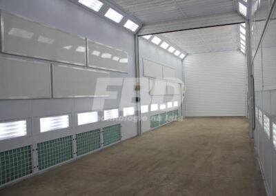 Przemysłowa kabina lakiernicza SAIMA z ogrzewaniem elektrycznym