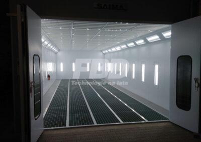 Przemysłowa kabina lakiernicza wielkogabarytowa 12m x 5m z zewnątrz