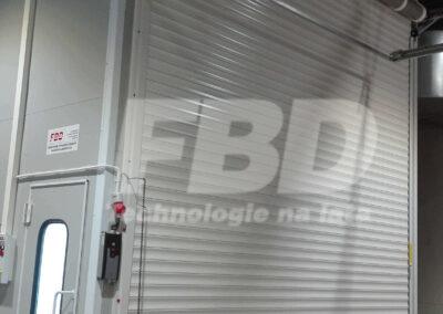 Przemysłowa kabina lakiernicza wielkogabarytowa SAIMA, drzwi rolowane