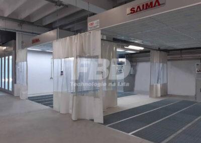 Strefa przygotowawcza i kabina lakiernicza SAIMA dla Opel