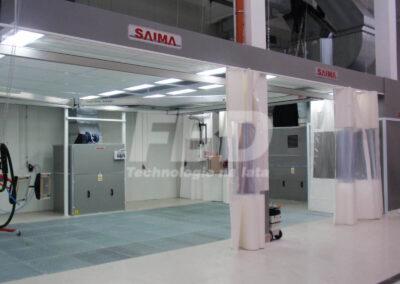 Strefy przygotowawcze z system szynowym promienników lakierniczych
