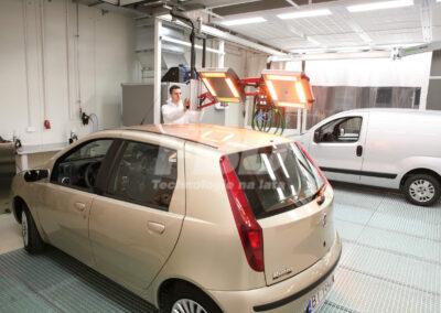 System szynowy promienników lakierniczych w strefie przygotowawczej