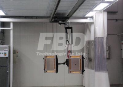 System szynowy z promiennikami lakierniczymi IRT w strefie