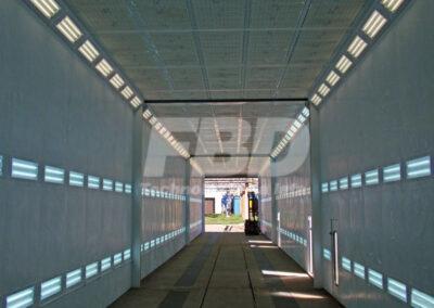 Wielkogabarytowa kabina lakiernicza SAIMA dla pojazdów szynowych
