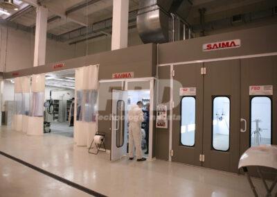 Wyposażenie lakierni Kabina lakiernicza SAIMA boks lakierniczy strefy przygotowawcze