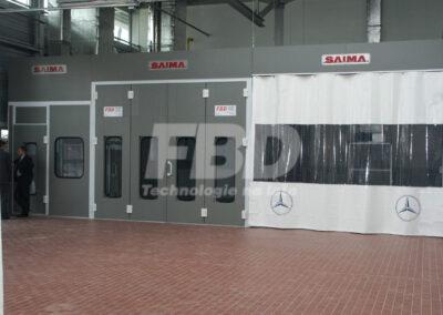 Wyposażenie lakierni Mercedes Benz