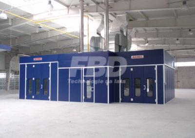 Wyposażenie lakierni, kabiny lakiernicza i boks lakierniczy