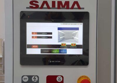 Dotykowy panel sterowania LCD w kabinie lakierniczej Saima Meccanica